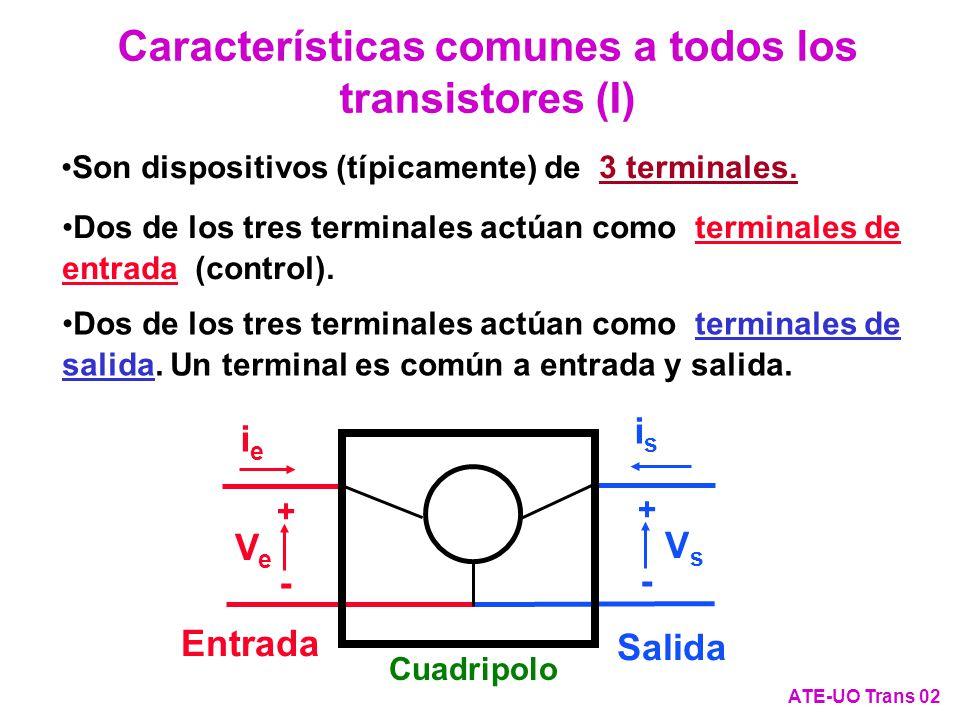 Características comunes a todos los transistores (I)