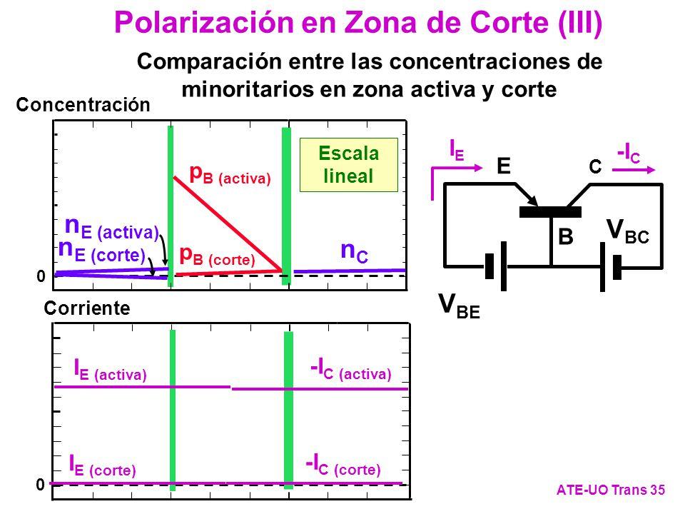 Polarización en Zona de Corte (III)