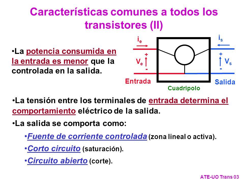 Características comunes a todos los transistores (II)