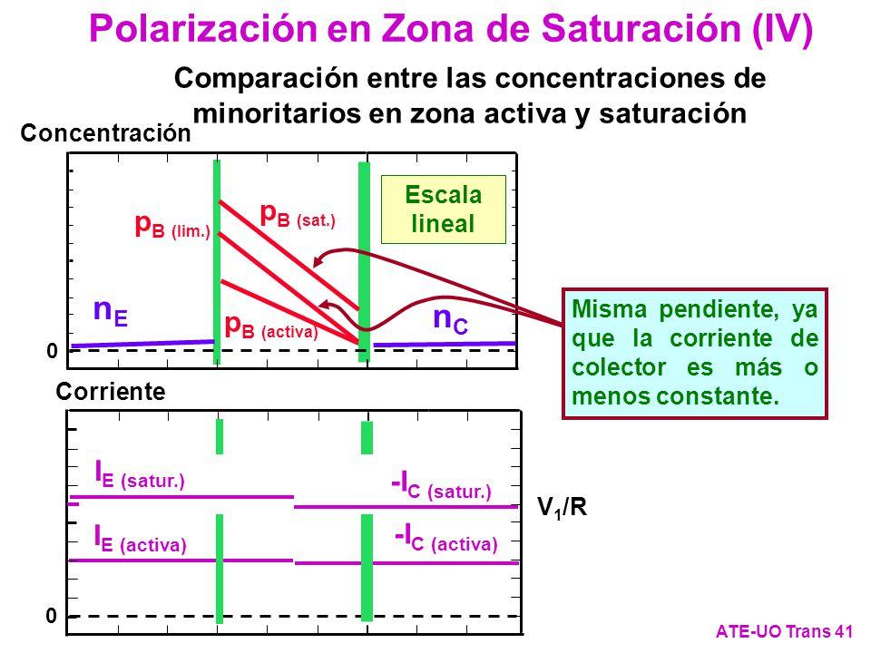 Polarización en Zona de Saturación (IV)