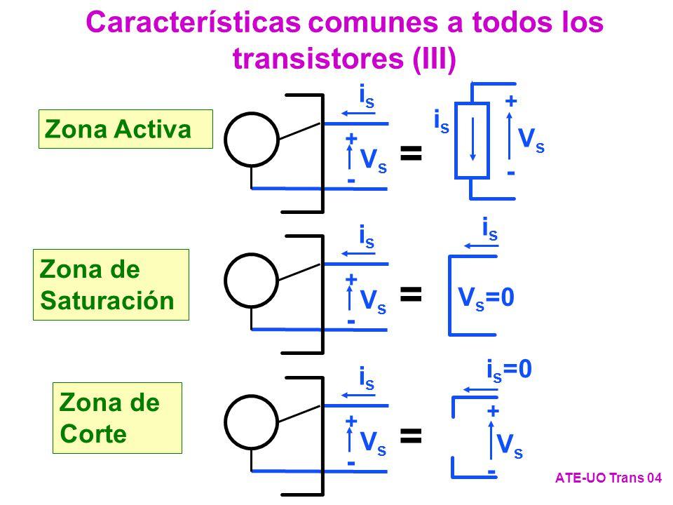 Características comunes a todos los transistores (III)