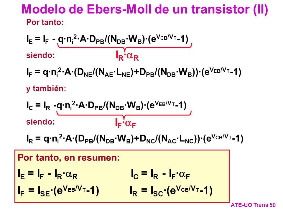 Modelo de Ebers-Moll de un transistor (II)