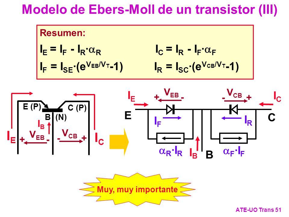 Modelo de Ebers-Moll de un transistor (III)