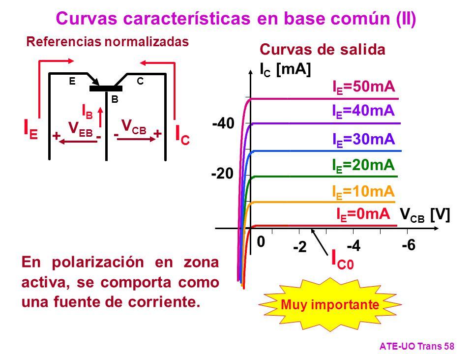 Curvas características en base común (II)