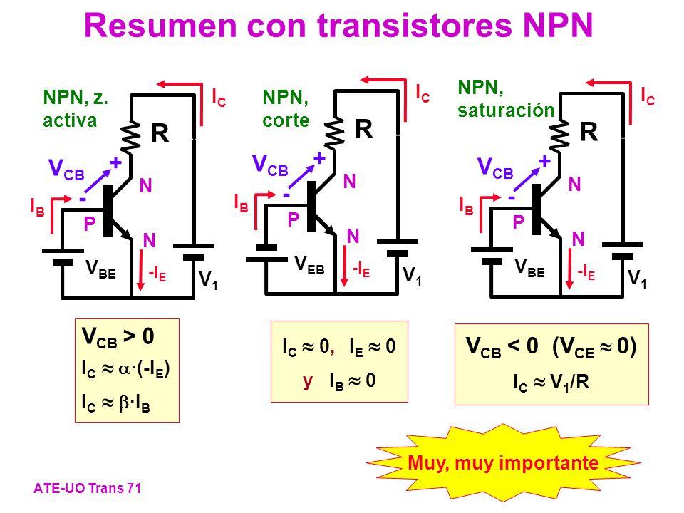 Resumen con transistores NPN