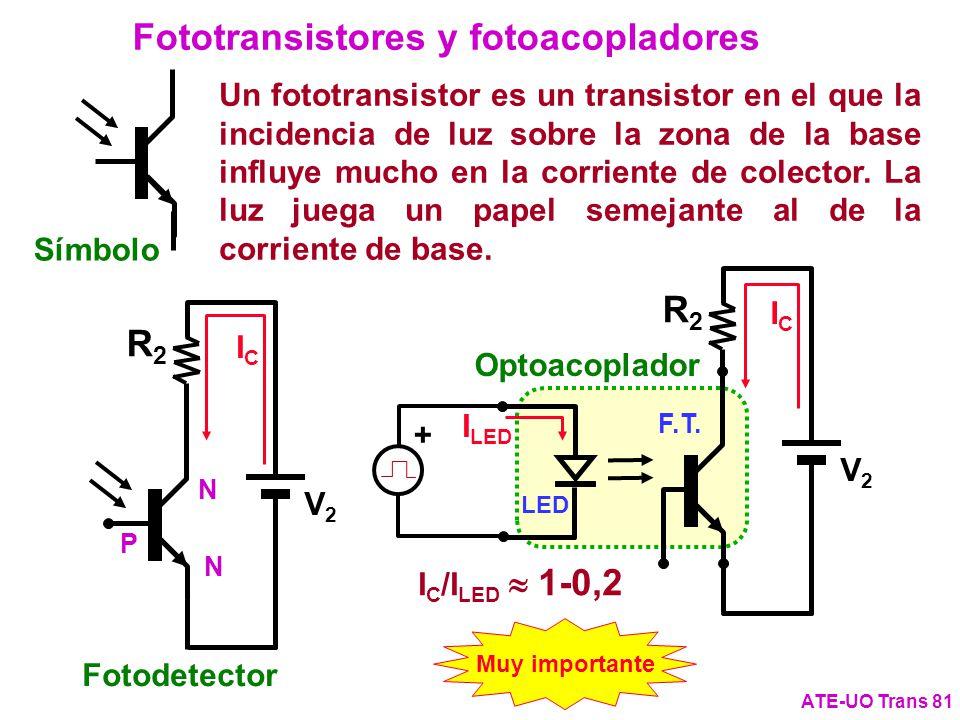 Fototransistores y fotoacopladores