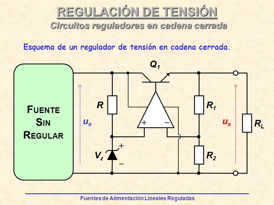 Circuitos reguladores en cadena cerrada