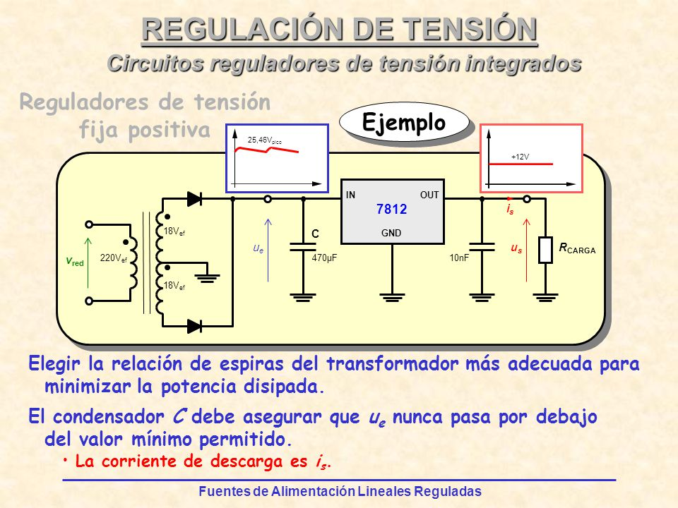 Circuitos reguladores de tensión integrados Reguladores de tensión