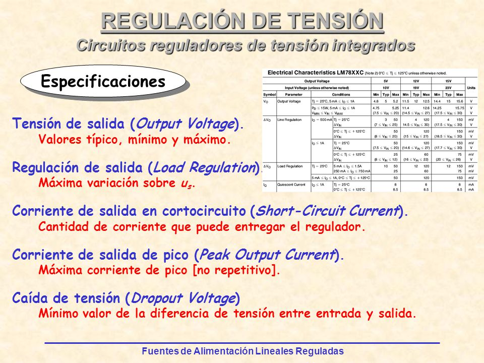 Circuitos reguladores de tensión integrados