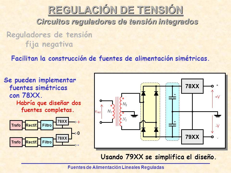 REGULACIÓN DE TENSIÓN Circuitos reguladores de tensión integrados