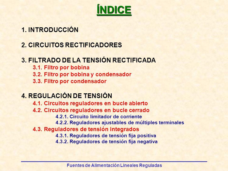 ÍNDICE 1. INTRODUCCIÓN 2. CIRCUITOS RECTIFICADORES