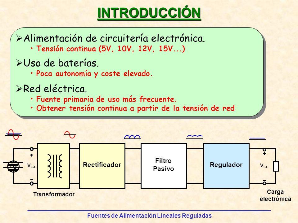 INTRODUCCIÓN Alimentación de circuitería electrónica. Uso de baterías.