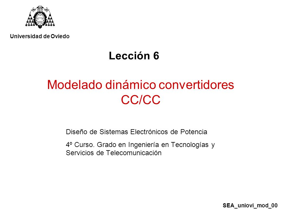Modelado dinámico convertidores CC/CC