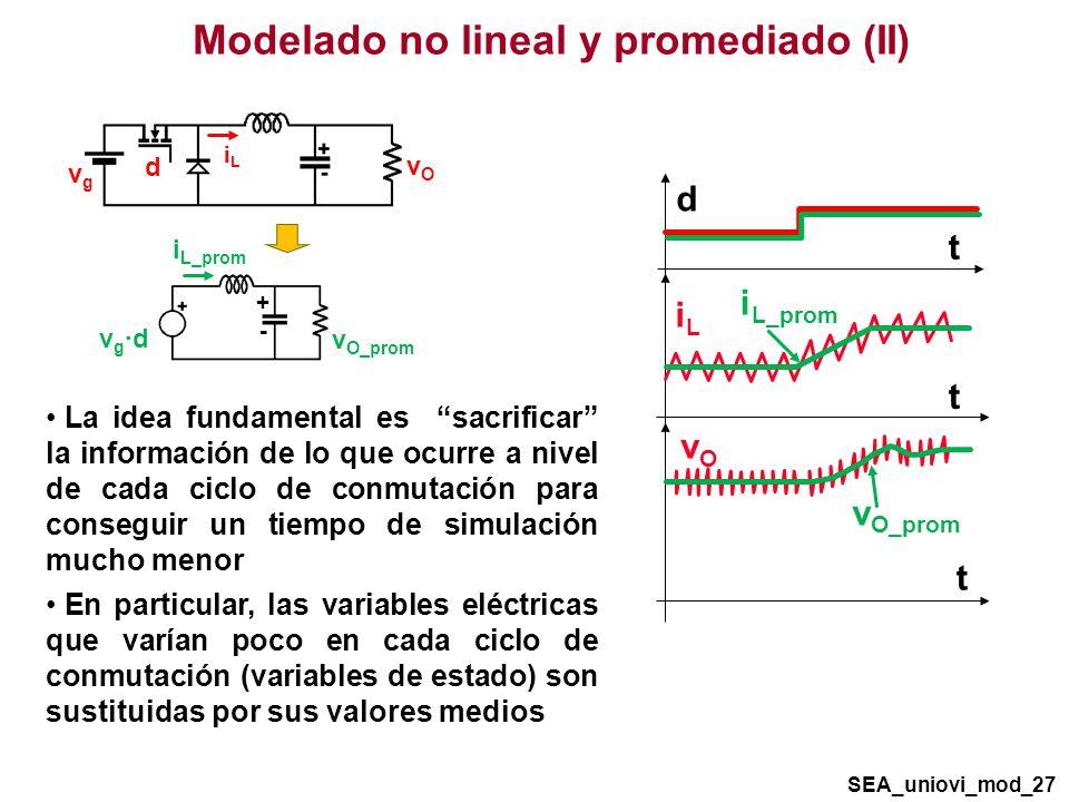 Modelado no lineal y promediado (II)