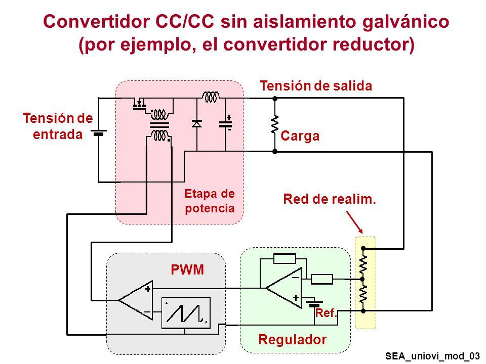 Convertidor CC/CC sin aislamiento galvánico (por ejemplo, el convertidor reductor)