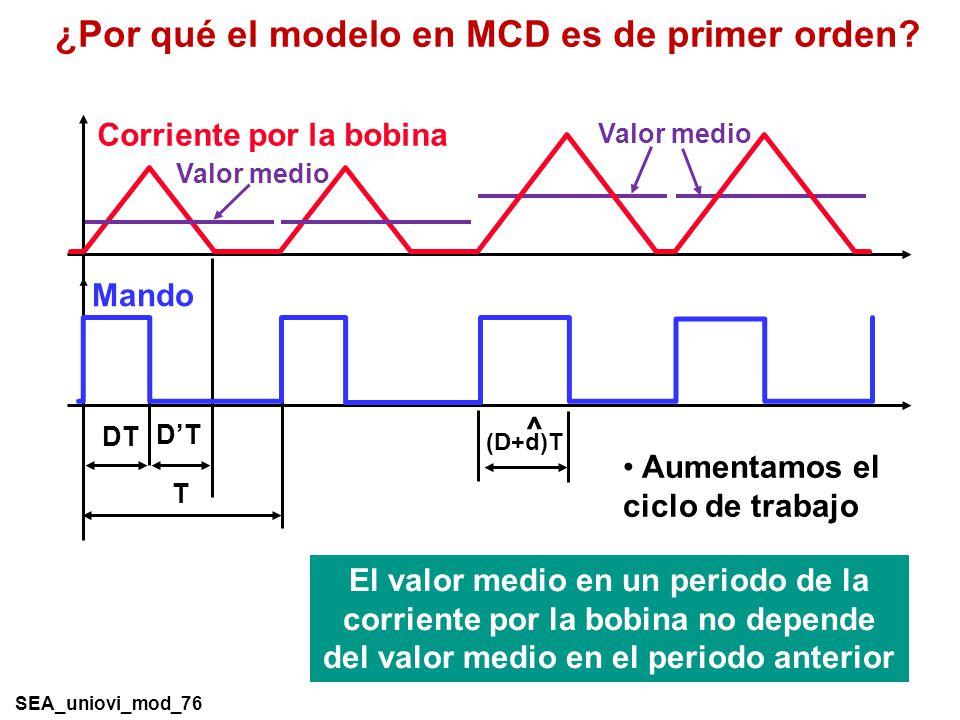 ¿Por qué el modelo en MCD es de primer orden