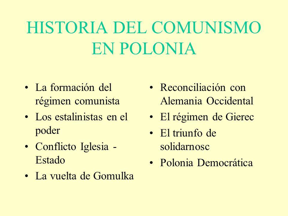 HISTORIA DEL COMUNISMO EN POLONIA