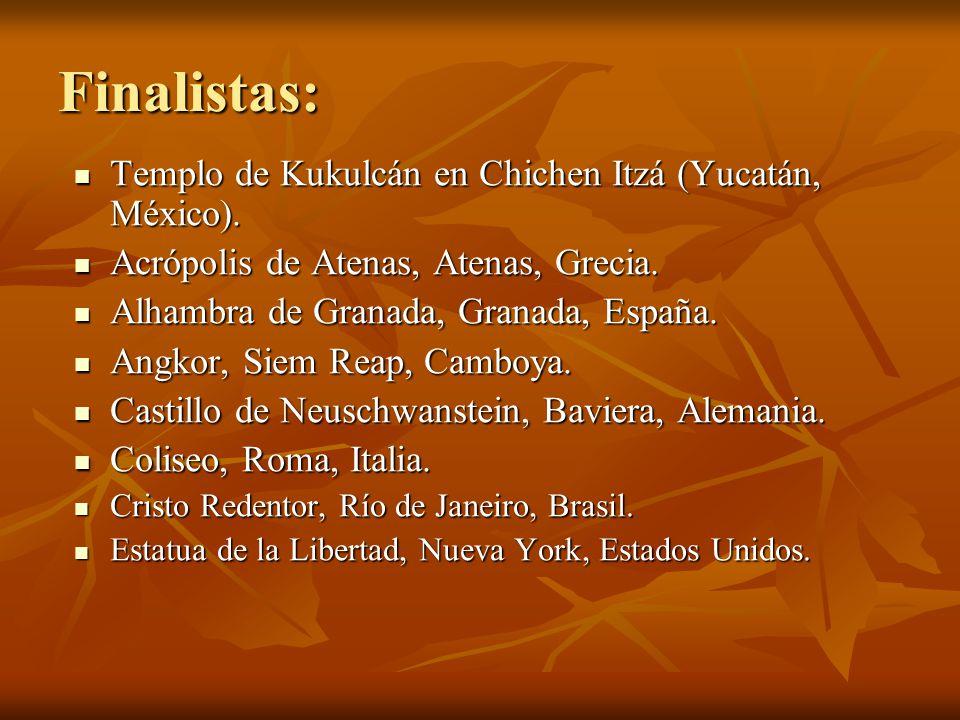 Finalistas: Templo de Kukulcán en Chichen Itzá (Yucatán, México).