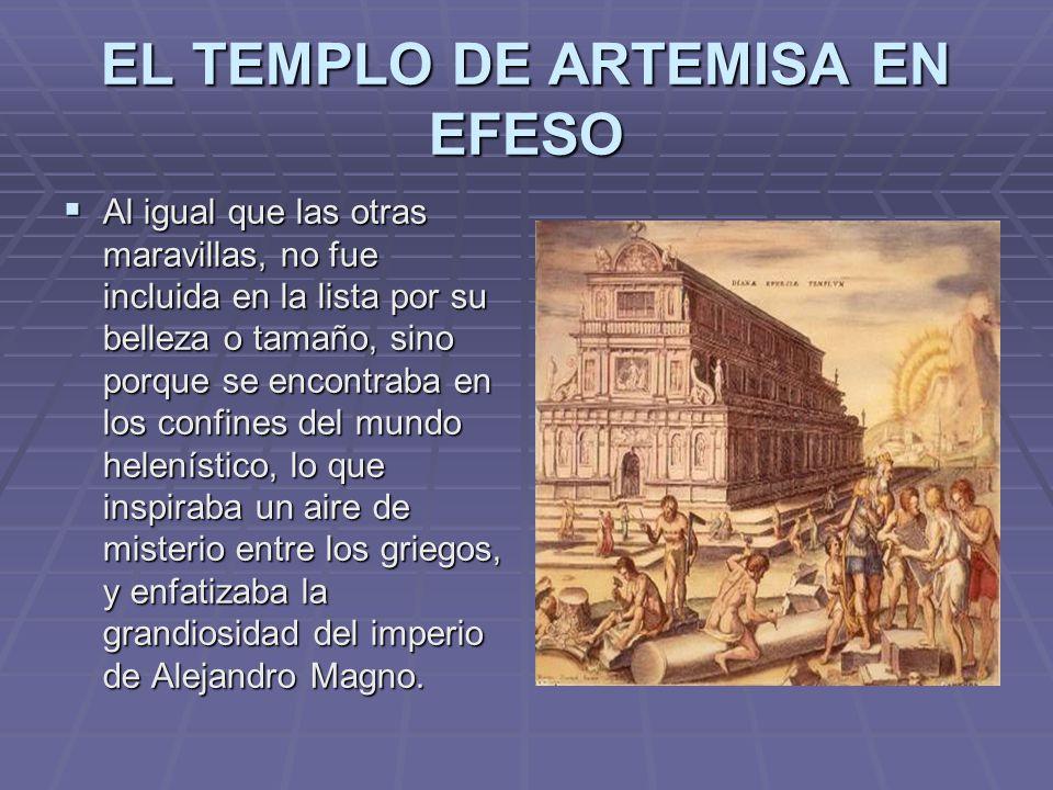 EL TEMPLO DE ARTEMISA EN EFESO