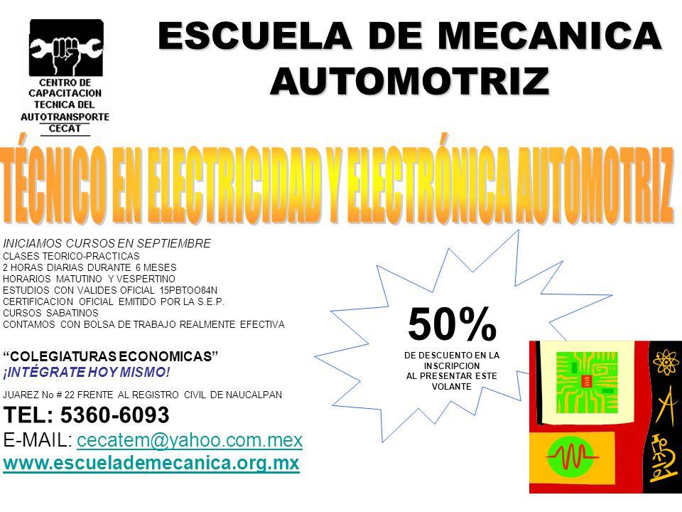 ESCUELA DE MECANICA AUTOMOTRIZ