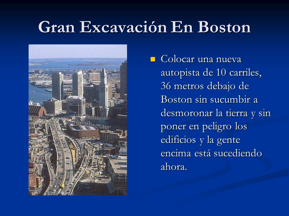 Gran Excavación En Boston