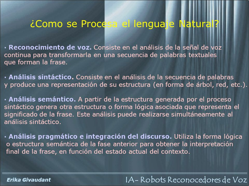 ¿Como se Procesa el lenguaje Natural