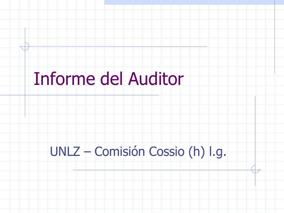UNLZ – Comisión Cossio (h) l.g.