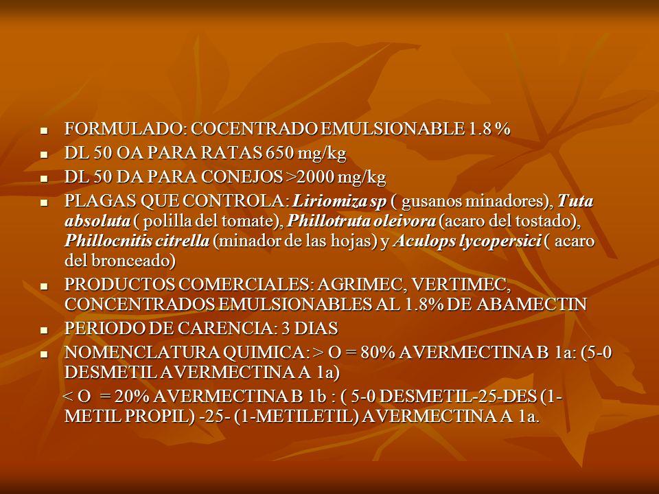 FORMULADO: COCENTRADO EMULSIONABLE 1.8 %