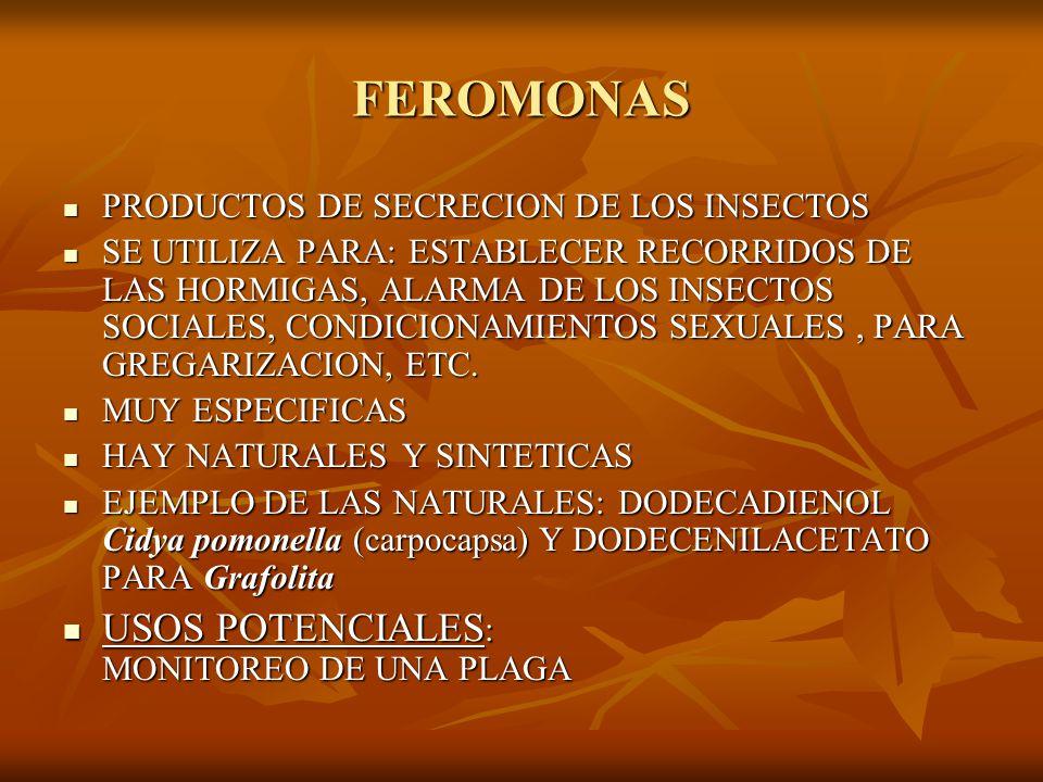FEROMONAS USOS POTENCIALES: MONITOREO DE UNA PLAGA
