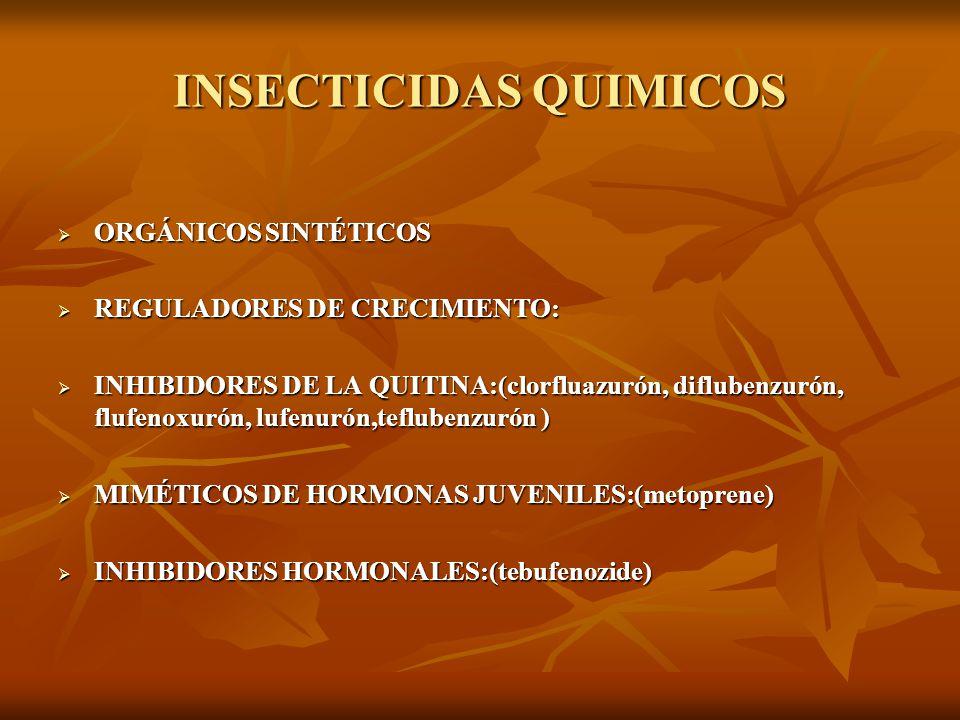INSECTICIDAS QUIMICOS