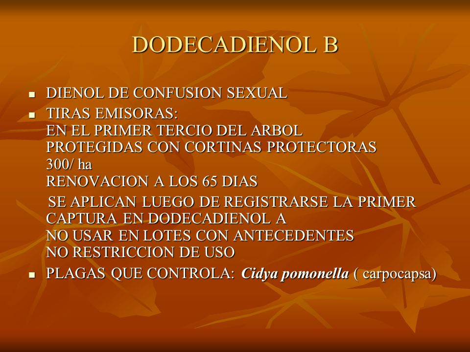 DODECADIENOL B DIENOL DE CONFUSION SEXUAL