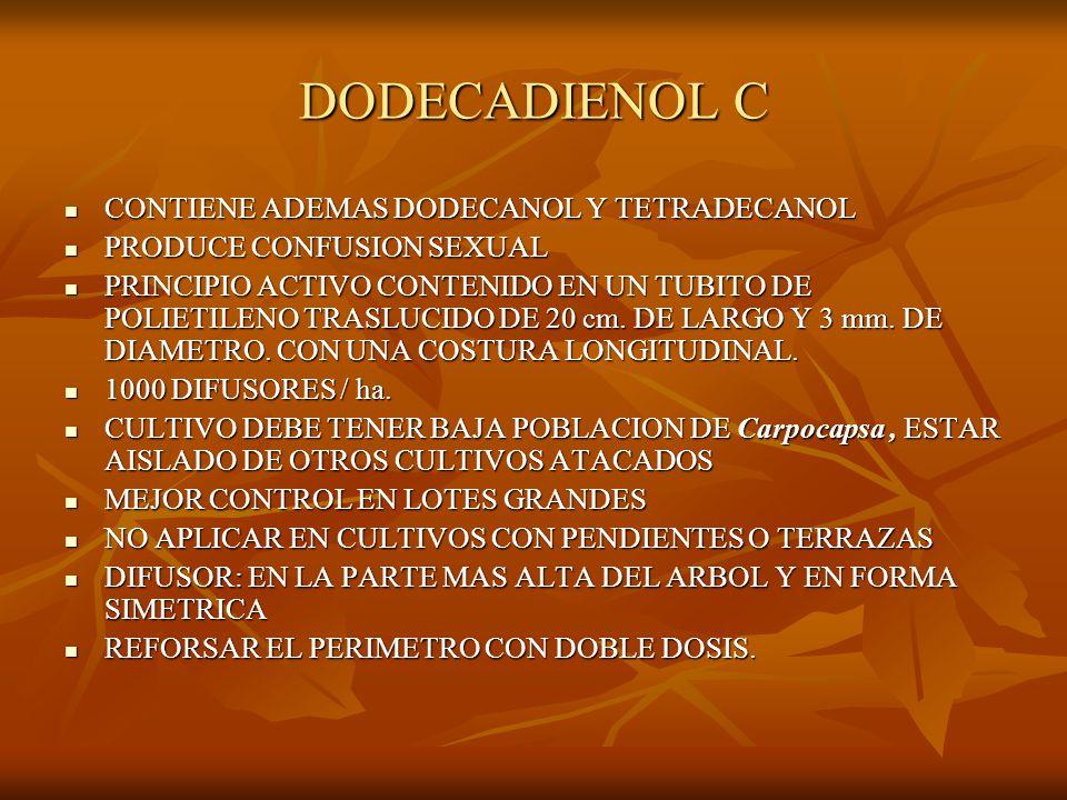 DODECADIENOL C CONTIENE ADEMAS DODECANOL Y TETRADECANOL