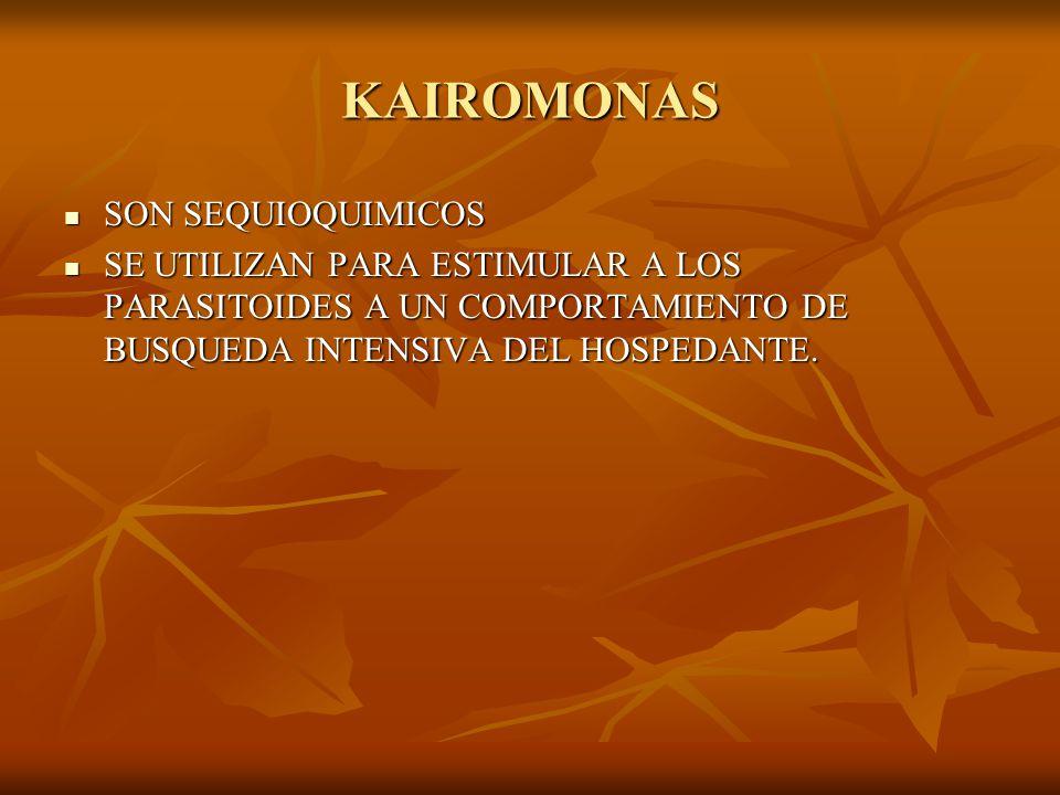KAIROMONAS SON SEQUIOQUIMICOS