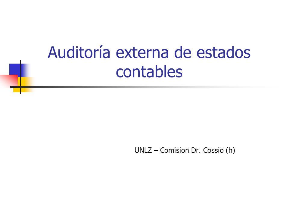 Auditoría externa de estados contables