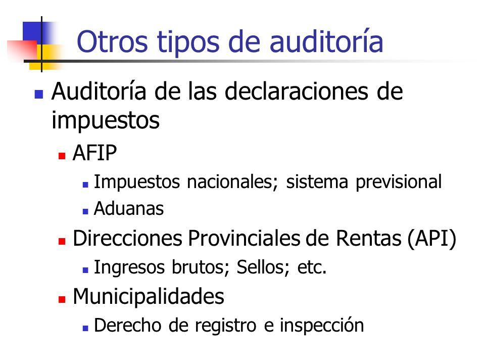 Otros tipos de auditoría