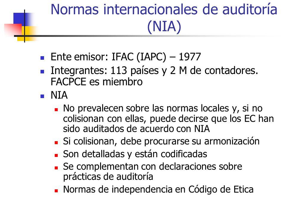 Normas internacionales de auditoría (NIA)