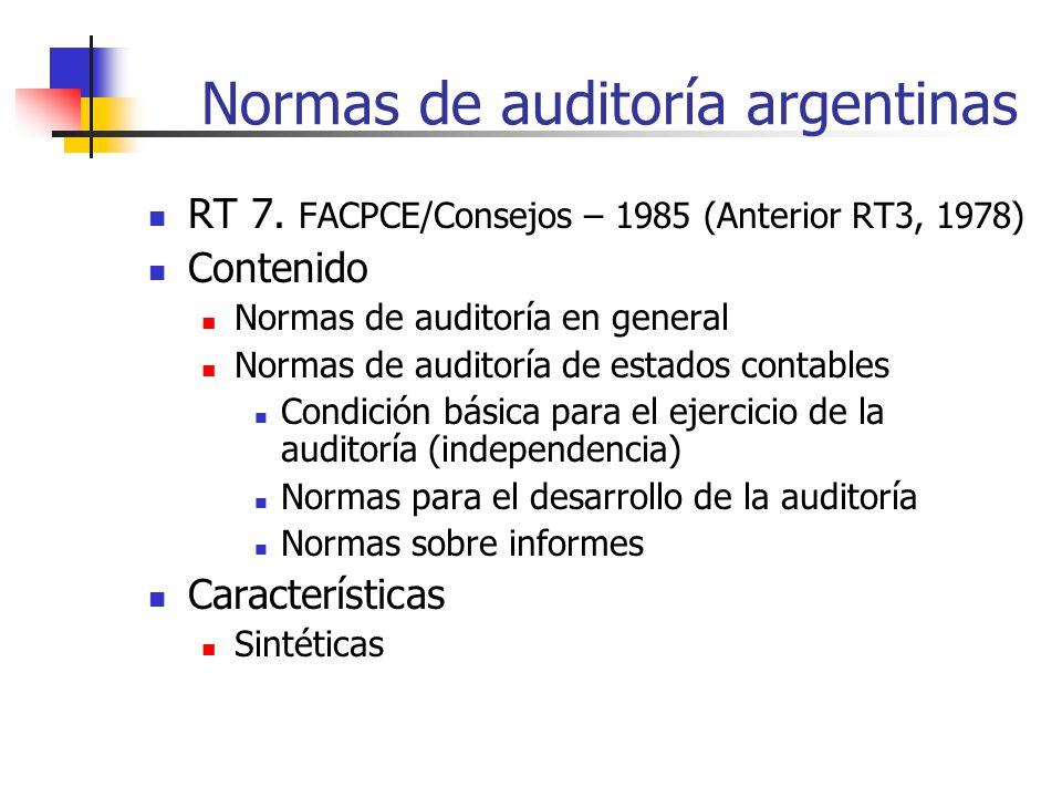 Normas de auditoría argentinas