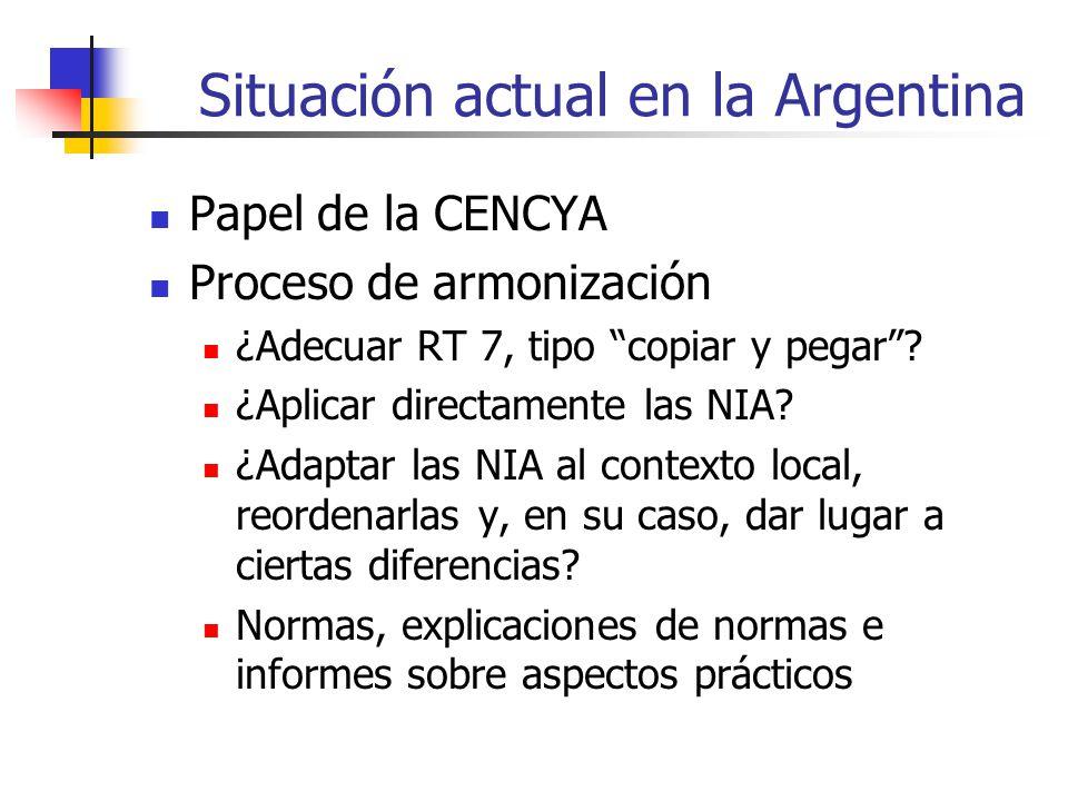 Situación actual en la Argentina