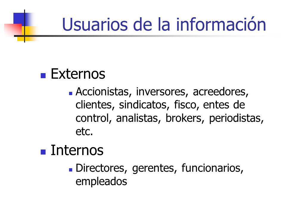 Usuarios de la información