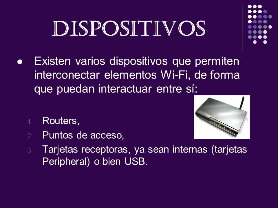 DISPOSITIVOS Existen varios dispositivos que permiten interconectar elementos Wi-Fi, de forma que puedan interactuar entre sí: