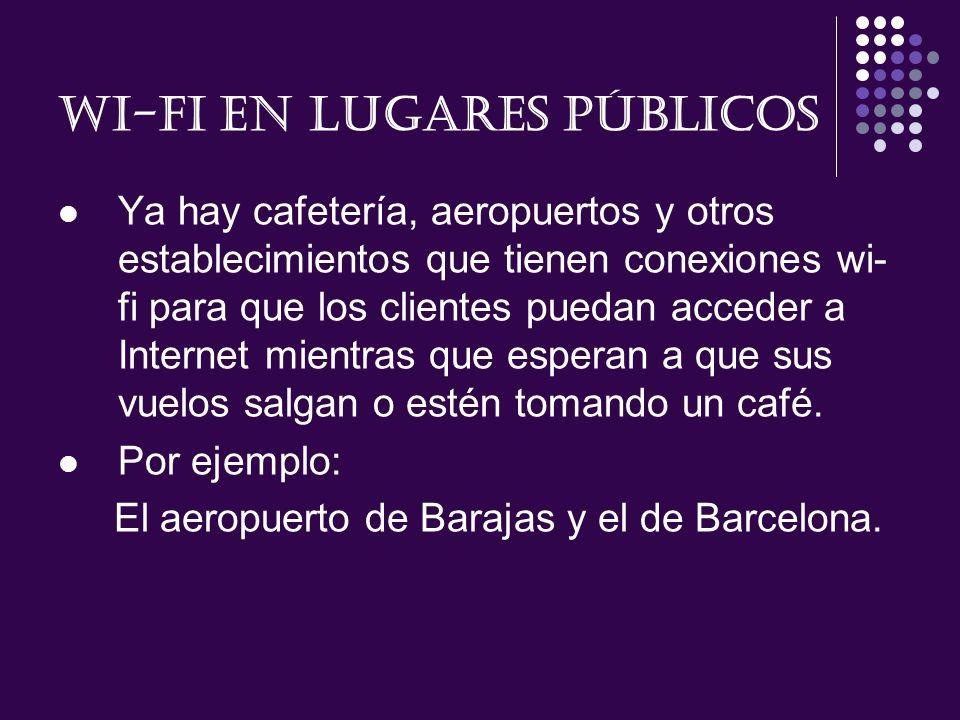 Wi-fi en lugares públicos