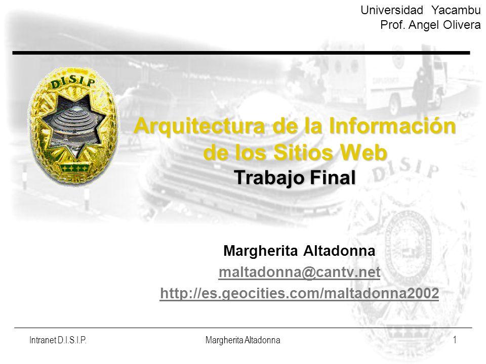 Arquitectura de la Información de los Sitios Web Trabajo Final