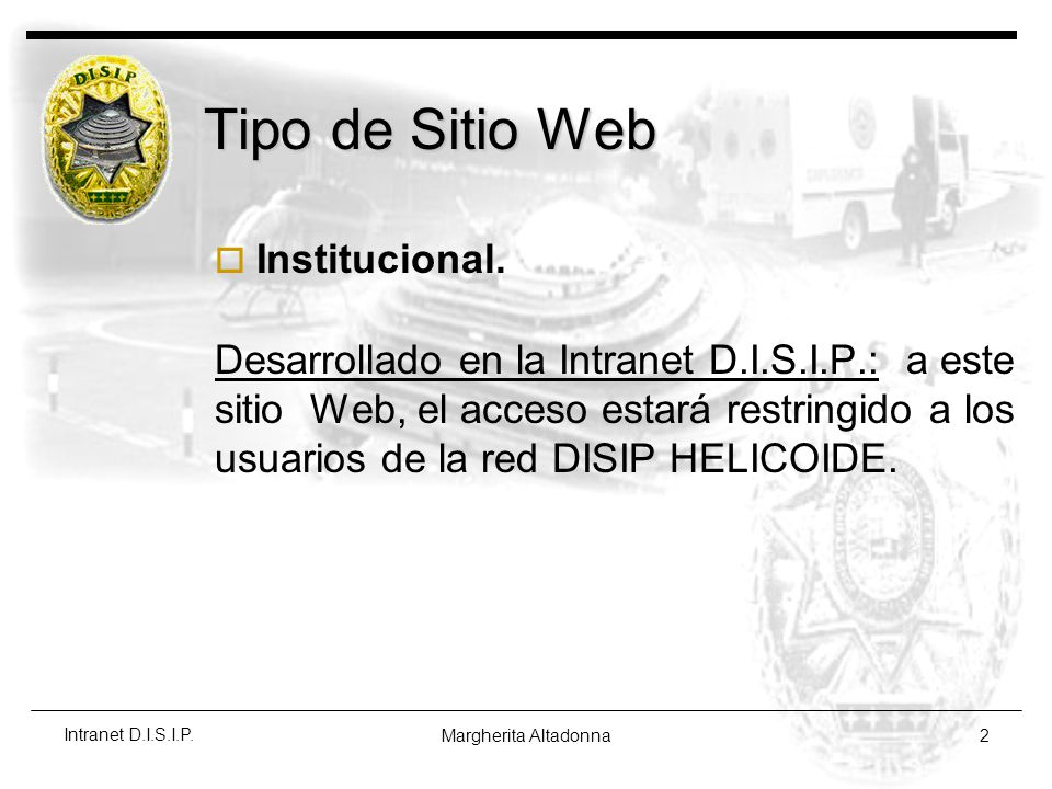 Tipo de Sitio Web Institucional.