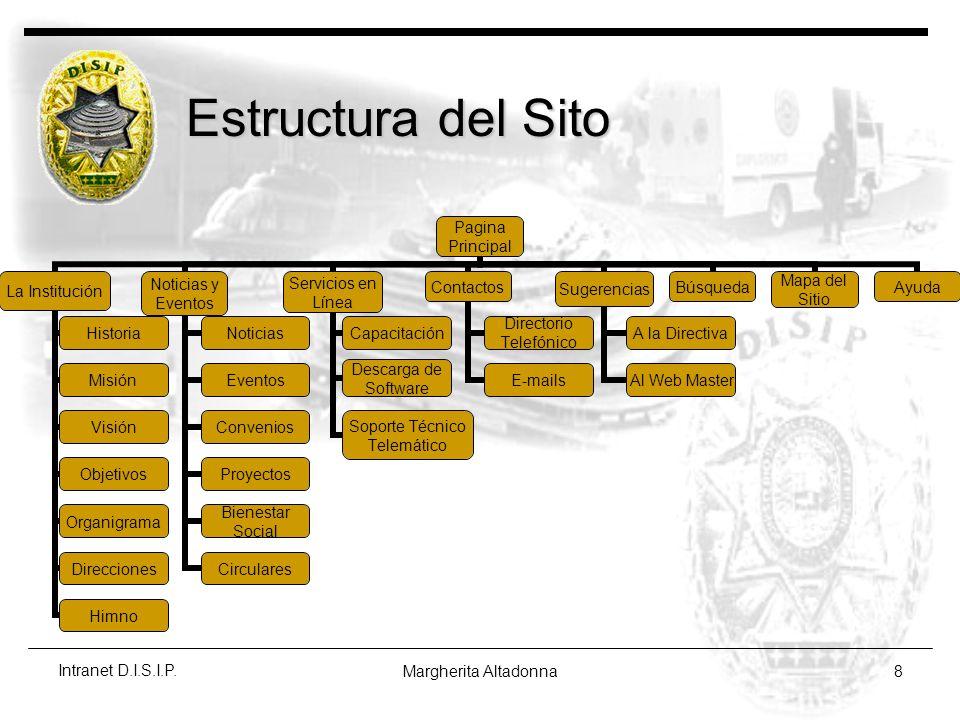 Estructura del Sito Intranet D.I.S.I.P. Margherita Altadonna
