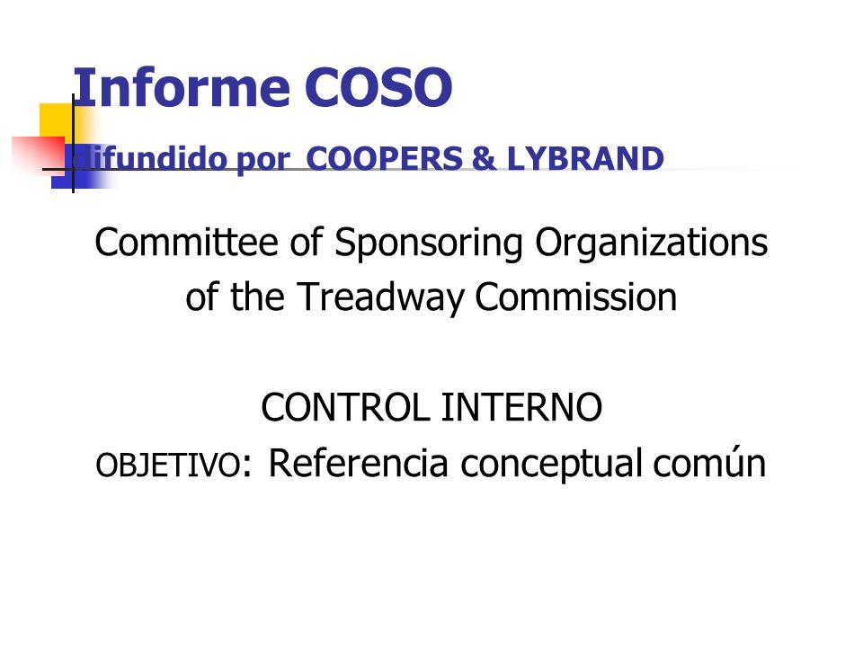 Informe COSO difundido por COOPERS & LYBRAND