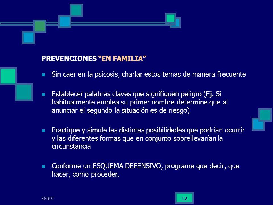 PREVENCIONES EN FAMILIA
