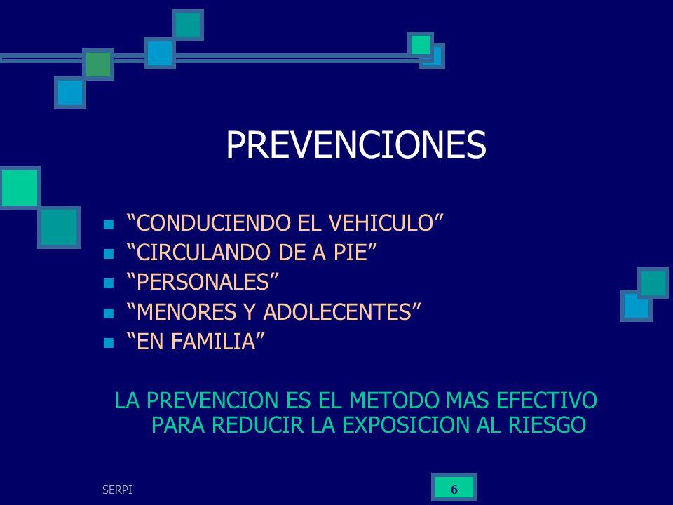 PREVENCIONES CONDUCIENDO EL VEHICULO CIRCULANDO DE A PIE