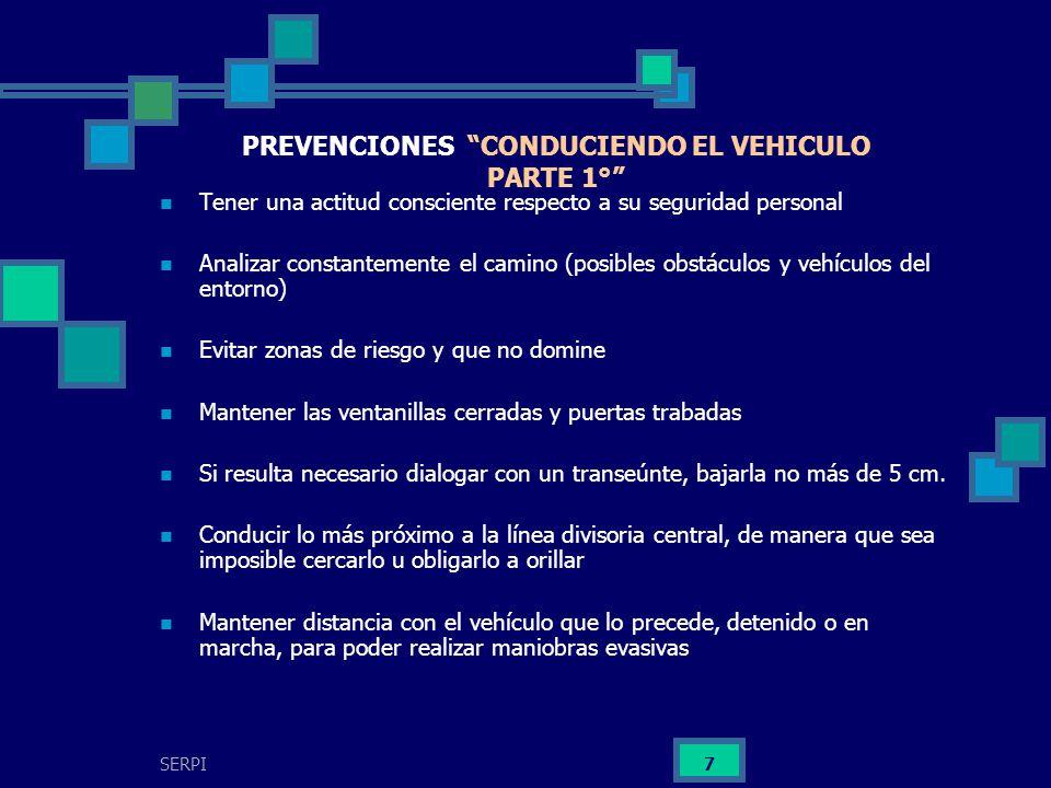 PREVENCIONES CONDUCIENDO EL VEHICULO PARTE 1°