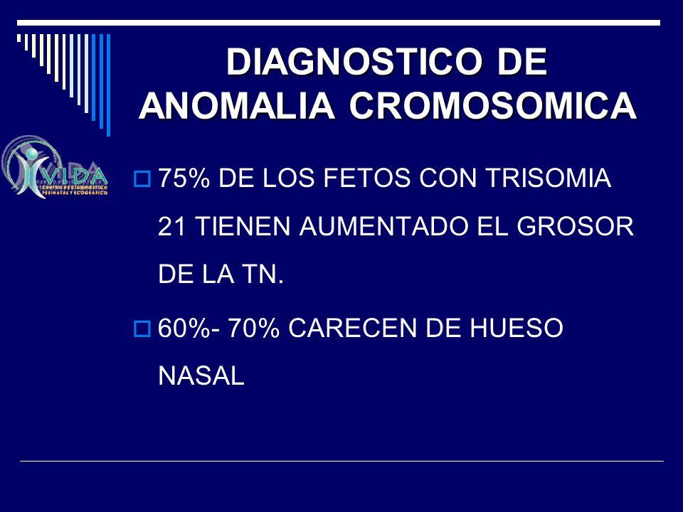 DIAGNOSTICO DE ANOMALIA CROMOSOMICA