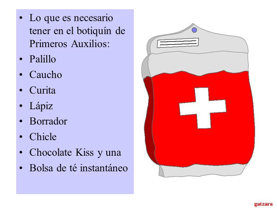 Lo que es necesario tener en el botiquín de Primeros Auxilios: